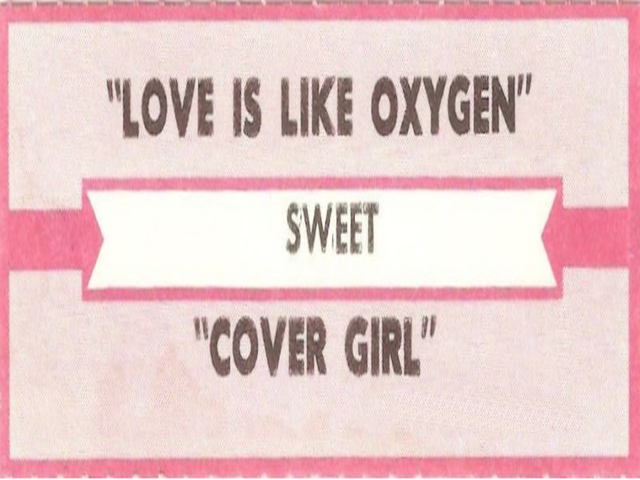 Sweet – Love Is Like Oxygen
